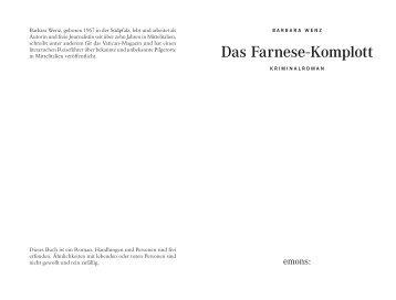 Wenz_Das Farnese-Komplott