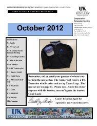 2012 October Newsletter - Bullitt County Cooperative Extension