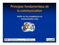 Principes fondamentaux de la communication : Atelier sur les ...