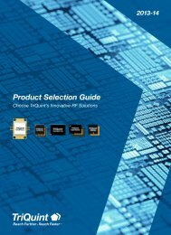 TriQuint Product Selection Guide - RfMW