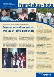 franziskusbote 2/07_ok - Stiftung St. Franziskus Heiligenbronn