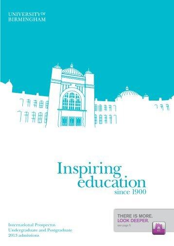 International-prospectus-2013 (PDF) - University of Birmingham