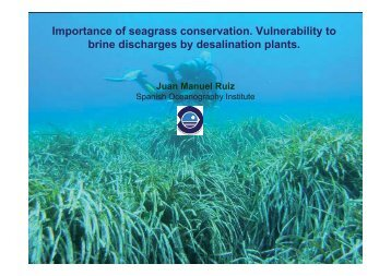 Importance of seagrass conservation ... - Proyecto Asdeco