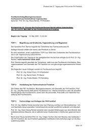 Protokoll der Tagung 2007 Münster