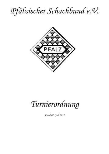 PSB-Turnierordnung - Pfälzischer Schachbund