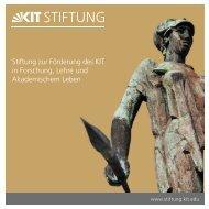 Broschüre (PDF) - der KIT-Stiftung