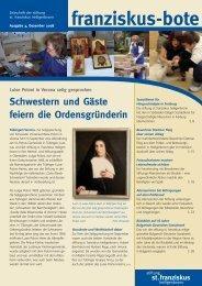franziskus-bote Dezember 2008 (PDF 1,3 MB - Stiftung St ...