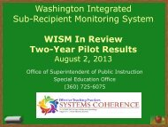 Presentation - Washington Association of School Administrators