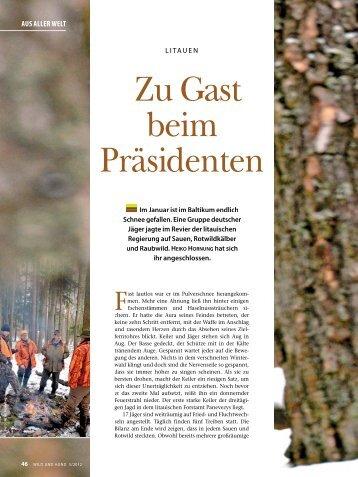 Litauen - Zu Gast beim Präsidenten - Jagdbüro G. Kahle
