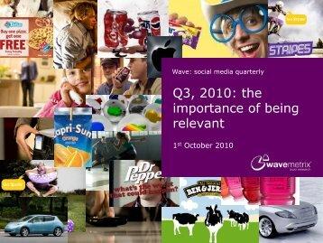 social media quarterly for Q3 2010 - WaveMetrix
