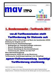 Tarifrunde 2011 Sonderinfo1 - Diakonie im Oldenburger Land
