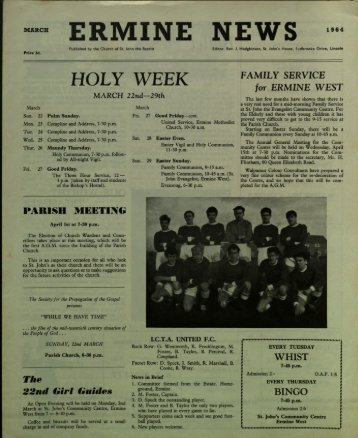 Ermine News March 1964 - St. John the Baptist Parish Church ...