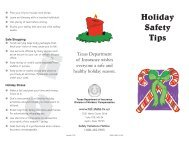 Holiday Safety Tips - Texas Department of Insurance
