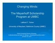 Changing Minds: The Meyerhoff Scholarship Program at UMBC