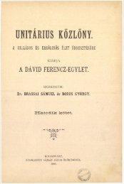Unitárius Közlöny 6. évfolyam, 1893 - Magyarországi Unitárius Egyház