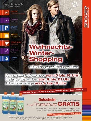 Weihnachts- Winter- Shopping - Stigger Mode - FMZ Imst