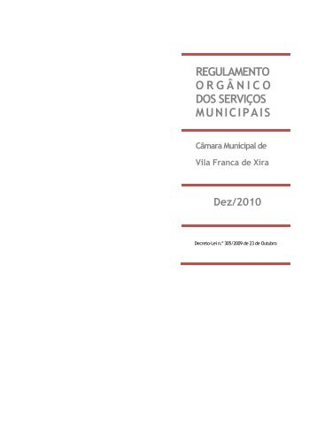 regulamento orgânico dos serviços municipais - Câmara Municipal ...