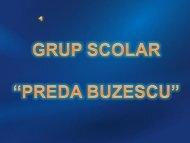 """grup scolar """" preda buzescu"""" administratie si management"""