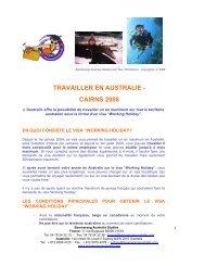 TRAVAILLER EN AUSTRALIE - CAIRNS 2008 - Boomerang Australia