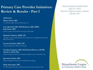 Patients are - Massachusetts League of Community Health Centers