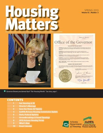 E-Newsletter-Spring 2013.indd - Arizona Department of Housing