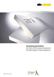 Verarbeitungsrichtlinie StoTherm PIR mineralisch ... - Sto AG