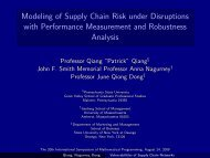 Modeling of Supply Chain Risk under Disruptions with Performance ...