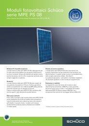 Moduli fotovoltaici Schüco serie MPE PS 08 - Infobuildenergia.it