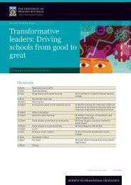 Transformative leaders: Driving schools from good to great