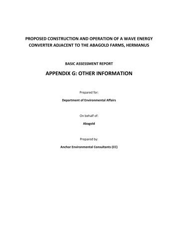 APPENDIX G - OTHER INFORMATION.pdf - Anchor Environmental