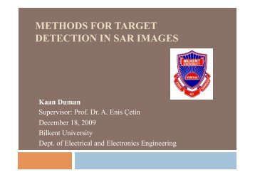 methods for target detection in sar images - Bilkent University
