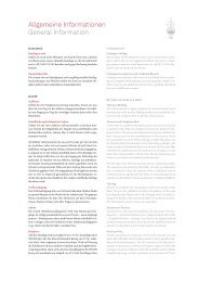 Allgemeine Informationen General Information - Karl & Faber