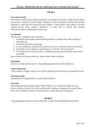 Kursus: Medicinsk etik for medlemmer af en klinisk etisk komite ...