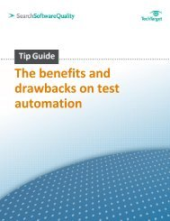 The benefits and drawbacks on test automation - Bitpipe