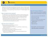 Windows 7 Migration Cheat Sheet - Dell-Symantec Alliance ...