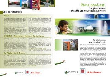 Paris nord-est, la géothermie chauffe les nouveaux quartiers