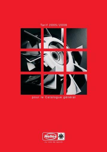 pour le Catalogue général Tarif 2005/2006