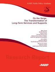 On the Verge: The Transformation of Long-Term Services - National ...