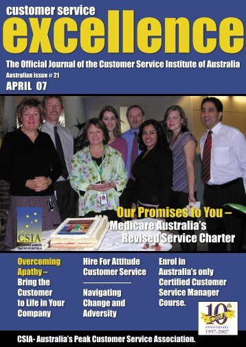 Issue 21 - Customer Service Institute of Australia