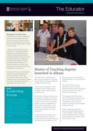 The Educator - Faculty of Education - The University of Western ...