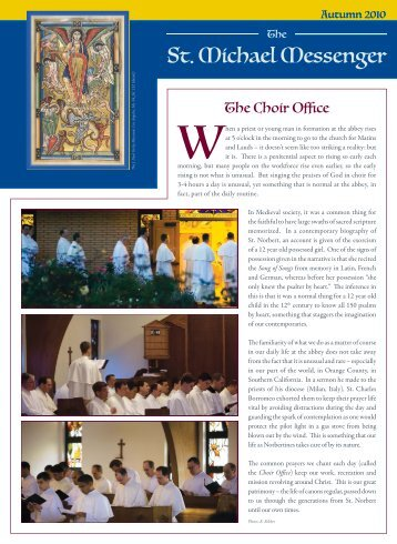 News from St. Michael's Preparatory School ... - St. Michael's Abbey