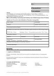 Hilfe zur Beschaffung, Ausstattung und Erhaltung einer ... - ABB eV