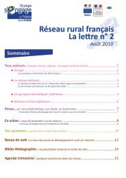 août 2010 - Réseau Rural Français