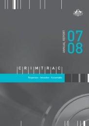 CrimTrac Annual Report 2007-2008
