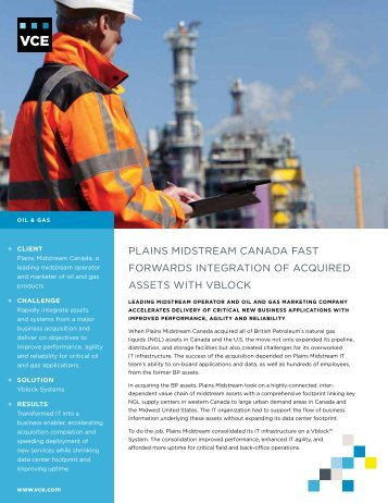 Plains Midstream Case Study - VCE