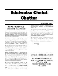 Edelweiss Chalet Chatter October 2007 - Edelweiss Chalet Country ...