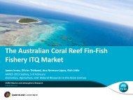 The Australian Coral Reef Fin-Fish Fishery ITQ Market