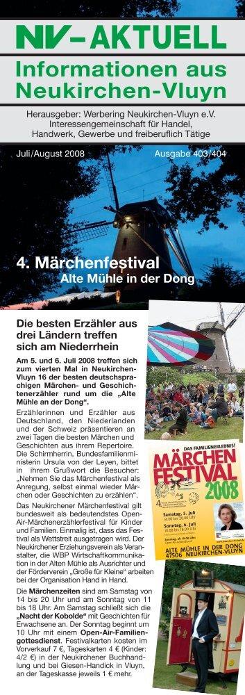Nr. 403/404 :: Juli/August 2008 - Werbering Neukirchen-Vluyn
