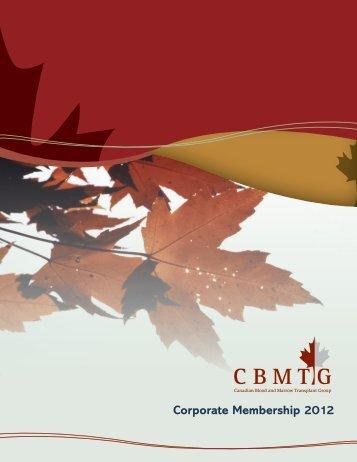 Corporate Membership 2012 - CBMTG
