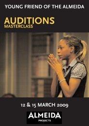 AUDITIONS - Almeida Theatre